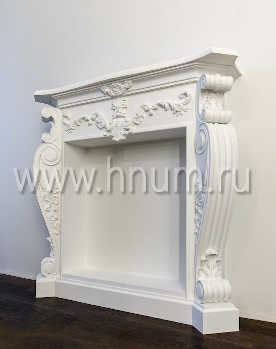 Лепной декоративный камин в квартиру - на заказ - лепная мастерская БМ ХНУМ