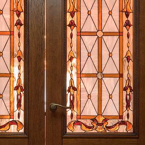 Витражные двери вставки в мебель - изготовление и разработка