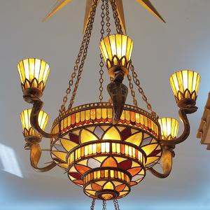 Витражные светильники люстры лампы - изготовление и разработка